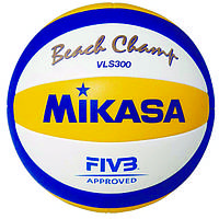 Мяч пляжного волейбола Mikasa VLS300 Official Game Ball, FIVB Approved, сшитый (оригинал)