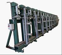 Вертикальный гидравлический пресс для склеивания по плоскости