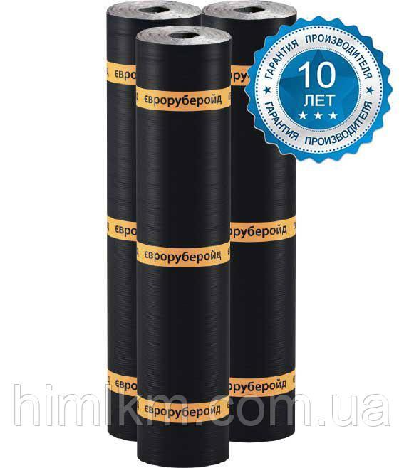 Еврорубероид ХПП 1,5 (15м2) Рубероид для гидроизоляции и кровли