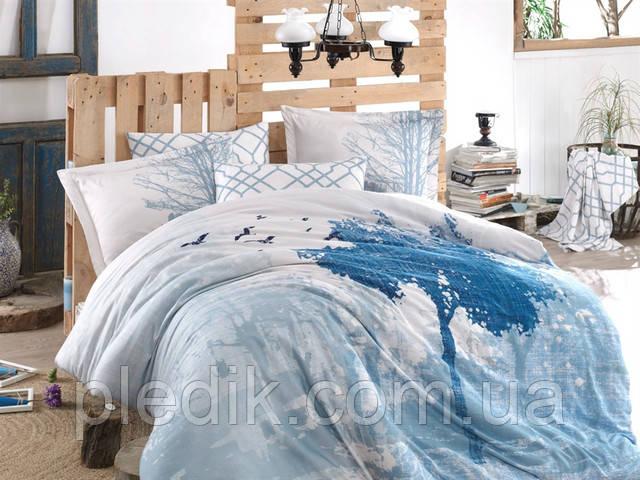 Комплект постельного белья голубой
