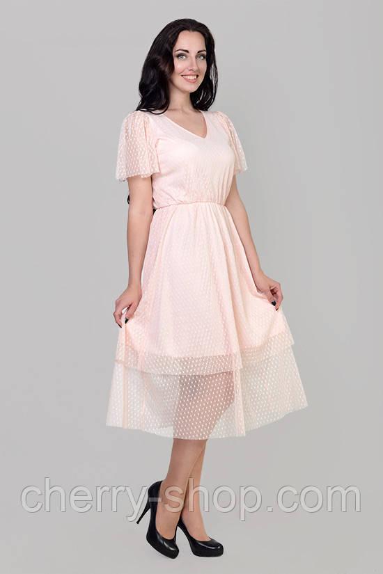 Ніжне жіноче плаття в розмірі 46,48,50,52
