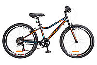 "Велосипед 24"" Optimabikes BLACKWOOD 2018 (черно-оранжево-синий (м))"