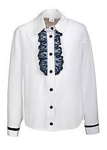 Красивая и стильная школьная блуза из супер софта украшена кружевом