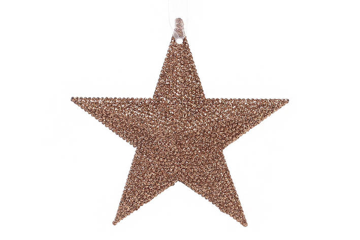 Елочная подвеска Звезда 11см цвет - медь (788-375), фото 2