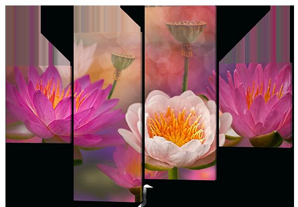 Модульная картина Цветущие бутоны