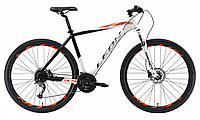 """Велосипед 29"""" LEON TN 70 HDD 2018 (черно-белый с красным)"""