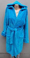 Женский махровый халат короткий