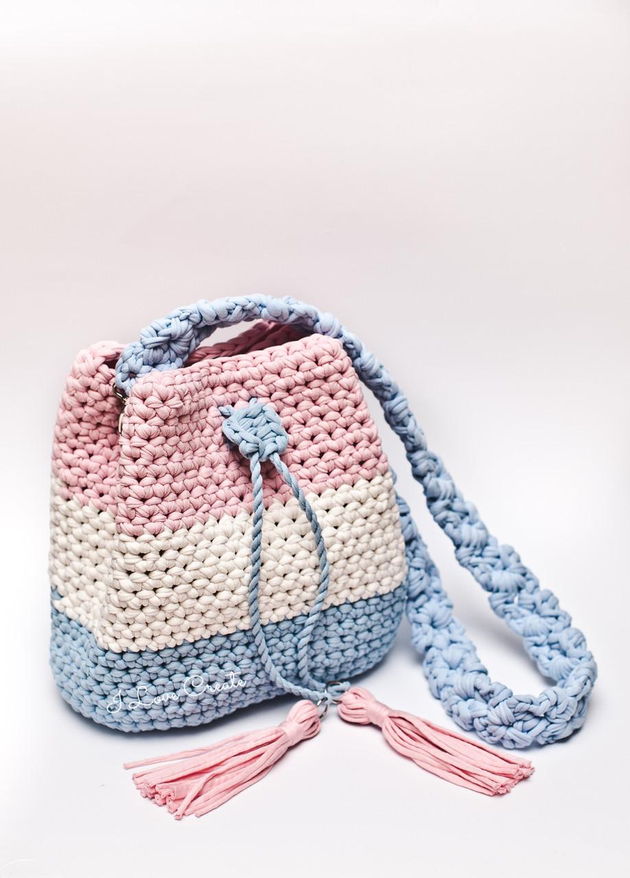 a94e8a560611 Мастер класс Сумка Торба из трикотажной пряжи - Вязанные сумки, схемы и  видео- уроки