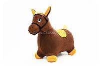 Прыгуны - лошадки в чехле MS 0325 Коричневый