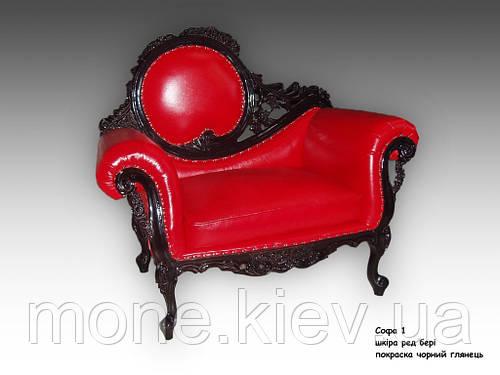 """Кресло кожаное  в стиле барокко  """"Софа"""""""