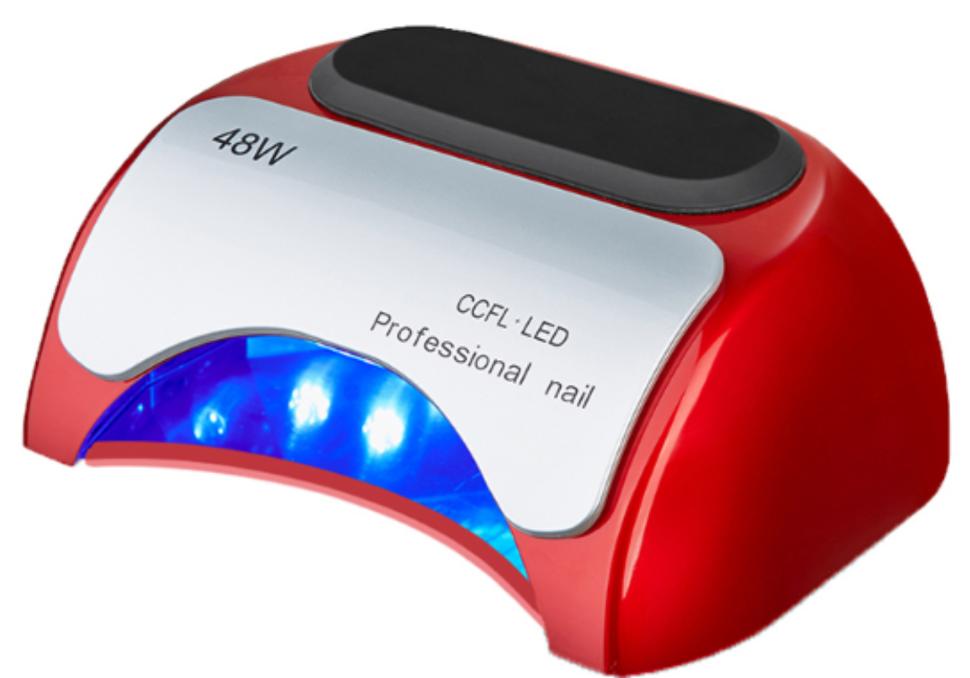Гибридная лампа для ногтей LED+CCFL 48W, красная