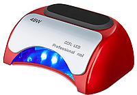 Гибридная лампа для ногтей LED+CCFL 48W, красная, фото 1
