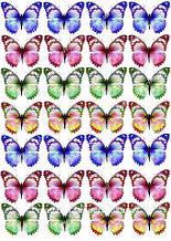 "Вафельная картинка ""Бабочки"" - 4"