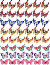 "Вафельная картинка ""Бабочки"" - 5"
