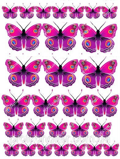 "Вафельная картинка ""Бабочки"" - 6"