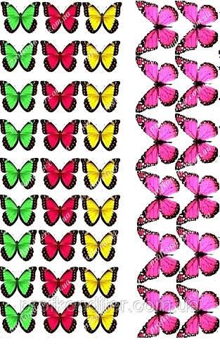 "Вафельная картинка ""Бабочки"" - 7"
