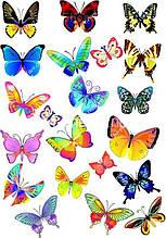 "Вафельная картинка ""Бабочки"" - 10"