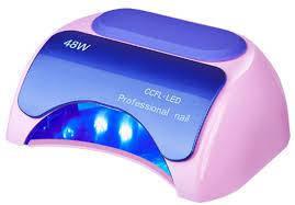 Гибридная лампа для ногтей LED+CCFL 48W,розовая