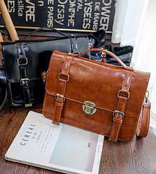 Лакированная деловая сумка рюкзак трансформер