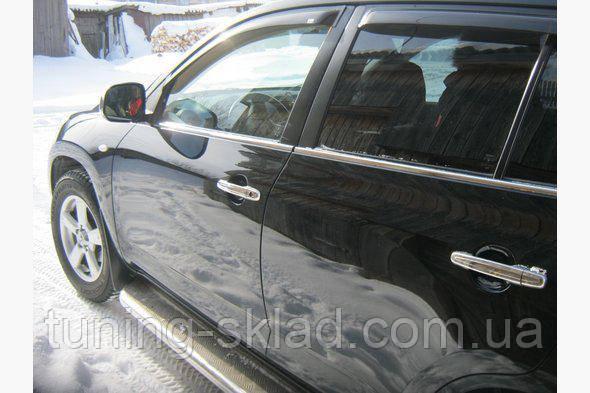 Хром наружная окантовка стекол  Toyota Rav 4  2006-2013 (Тойота)