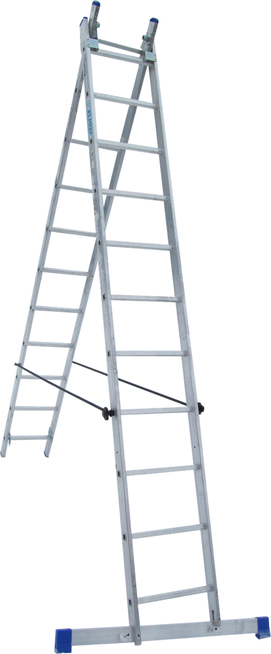Лестница 2-х секционная ELKOP VHR H 2*11 (2х11 ст., 2.99-5.07 м)