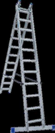 Лестница 2-х секционная ELKOP VHR H 2*11 (2х11 ст., 2.99-5.07 м), фото 2