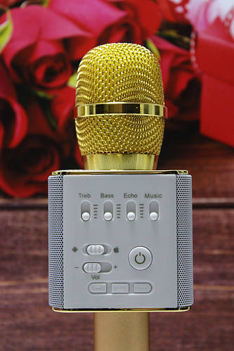 Блютуз микрофон для караоке + Беспроводная портативная колонка Q9