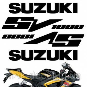Виниловая наклейка  -  sv 1000 suzuki 20х25 см