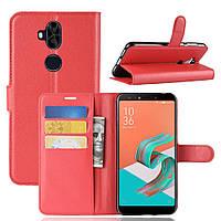Чехол Asus Zenfone 5 Lite / 5Q / ZC600KL / 5A013WW / X017D 6.0'' книжка PU-Кожа красный