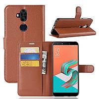 Чехол Asus Zenfone 5 Lite / 5Q / ZC600KL / 5A013WW / X017D 6.0'' книжка PU-Кожа коричневый