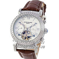 Часы Patek Philippe Grand Complications Tourbillon 42mm Silver/White/Brown. Replica, фото 1