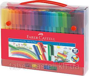 Фломастеры в пластиковом чемоданчике Faber-Castell Connector, 60 цветов,  155560