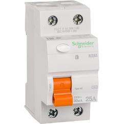 Дифференциальный Выключатель нагрузки ВД63 2П 25A 30MA АС, Испания