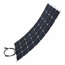 Полу - гибкая солнечная монокристаллическая панель 100 Вт