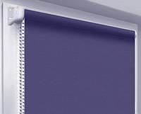 Ролеты тканевые блэкаут, сапфир (рулонные шторы, синий)