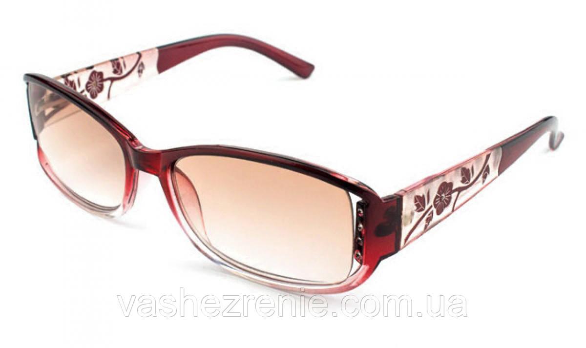 Очки женские для зрения с диоптриями +/- солнцезащитные Код:138