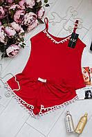 Красная женская пижама