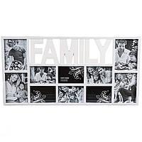 """Стильный фотоколлаж для 10 фото  """"Family"""" (72*37*2 см), фото 1"""