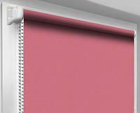 Ролеты тканевые блэкаут, ализарин (рулонные шторы, розовый)