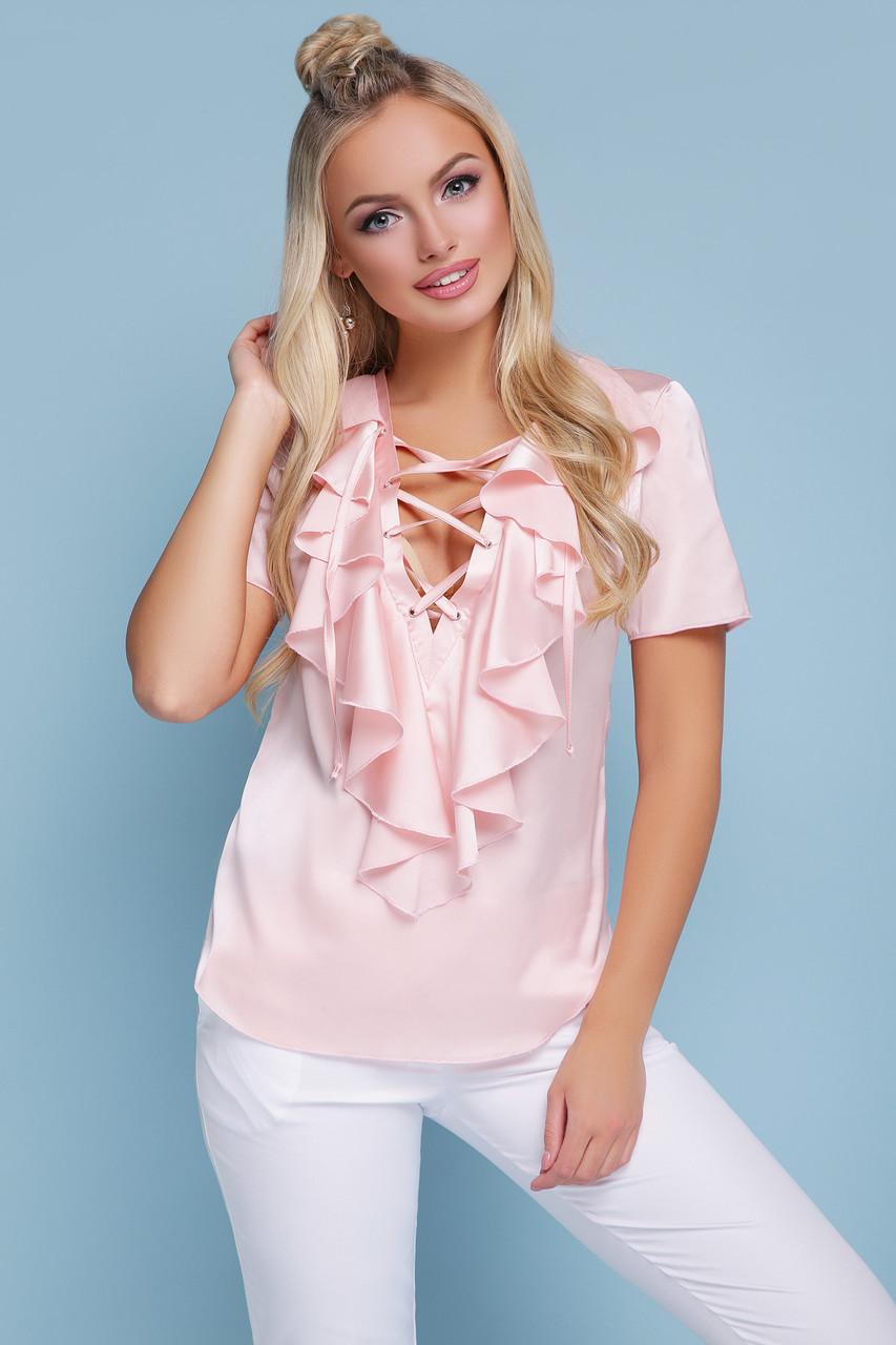 Женская шифоновая блуза Сиена к/р