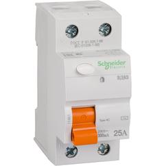 Дифференциальный Выключатель нагрузки ВД63 2П 25A 300MA АС, Испания