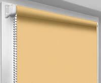 Ролеты тканевые блэкаут, карамель (рулонные шторы, беж)