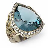 Перстень  женскийсеребряный Капля Os 7238, фото 2