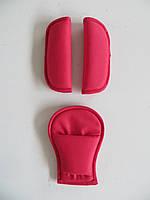 Накладки на ремни безопасности красный