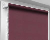 Ролеты тканевые блэкаут, бургундия (рулонные шторы, бордовый)