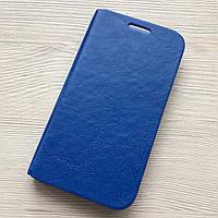 Чехол-книжечка на магните под кожу Samsung Galaxy S4 i9500 синий в упаковке