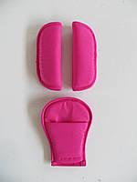 Накладки на ремни безопасности розовый
