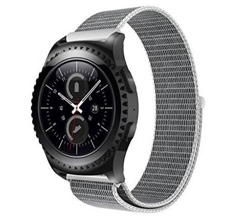 Нейлоновий ремінець Primo для годин Samsung Gear S2 Classic SM-R732 / RM-735 - White