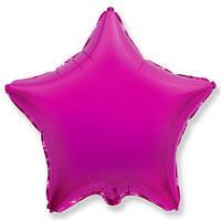 """Фольгований куля """"Зірка"""" пурпурова 45 см, Flexmetal Іспанія"""