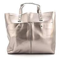 Вместительная стильная прочная кожаная качественная женская сумка GALANTY art. 687 Турция розовое золото, фото 1